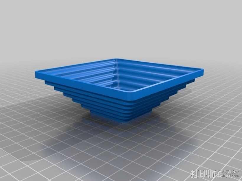 矩形碗/圆形碗 3D模型  图3