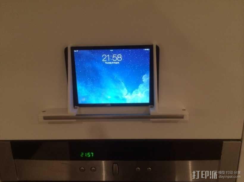 壁挂式iPad架 3D模型  图1