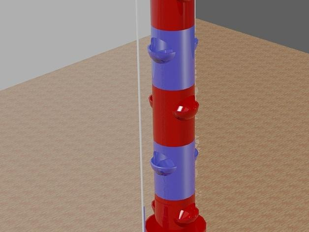 """迷你植物""""塔"""" 3D模型  图1"""