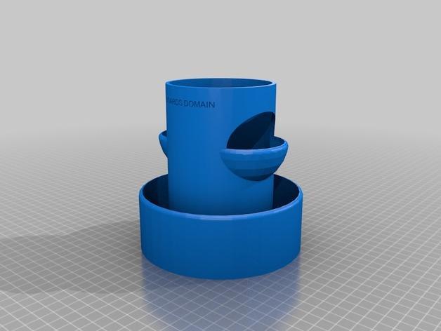 """迷你植物""""塔"""" 3D模型  图2"""