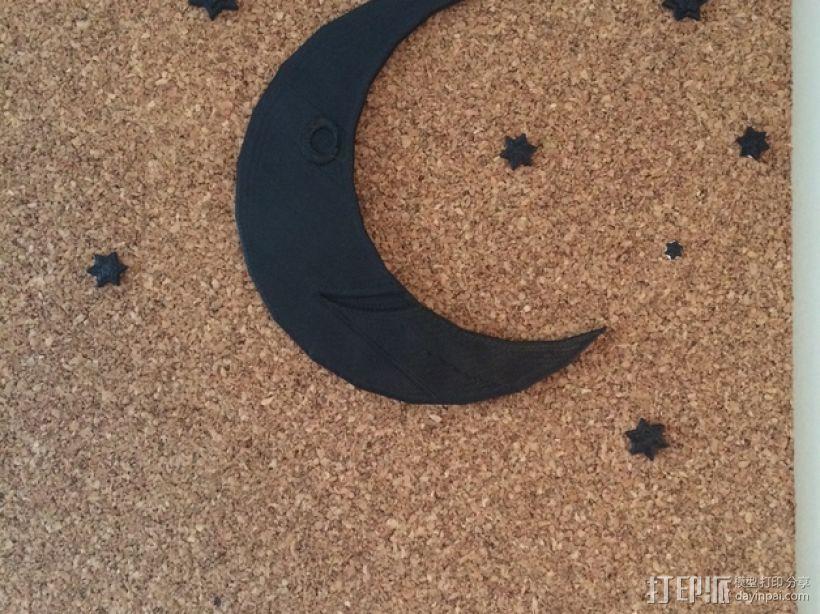 星星&月亮 3D模型  图1