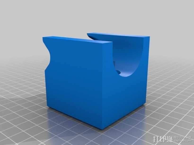 壁挂式四弦琴固定夹 3D模型  图2