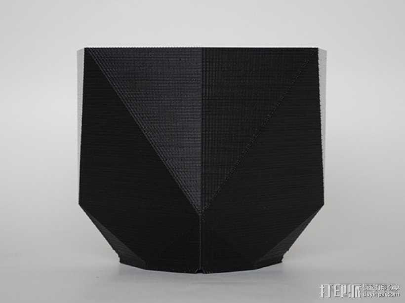 几何形花瓶 3D模型  图2