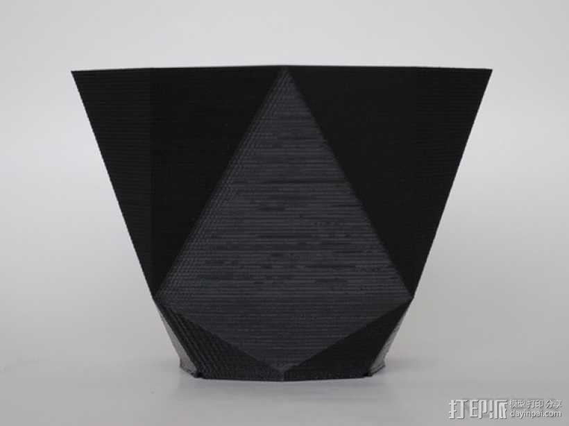几何形花瓶 3D模型  图4