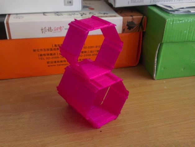 五边形机器人架 3D模型  图3
