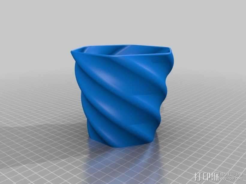 螺旋形花盆/笔筒 3D模型  图4