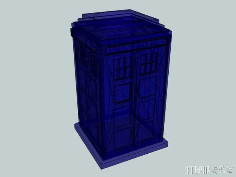 组合式塔迪斯笔筒 3D模型  图6