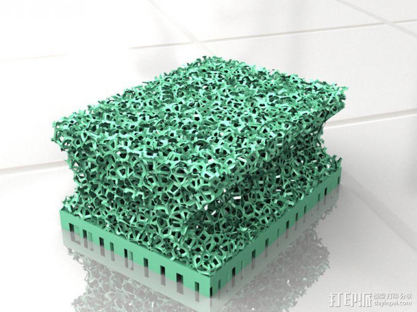 迷你块状海绵 3D模型  图3