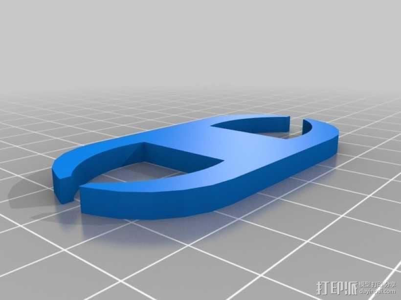 网线线缆固定器 3D模型  图2