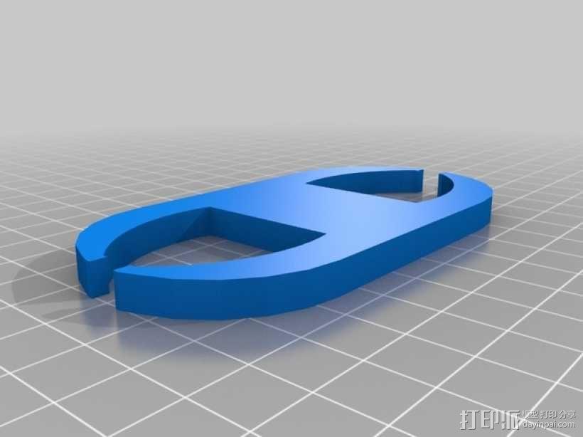 网线线缆固定器 3D模型  图3