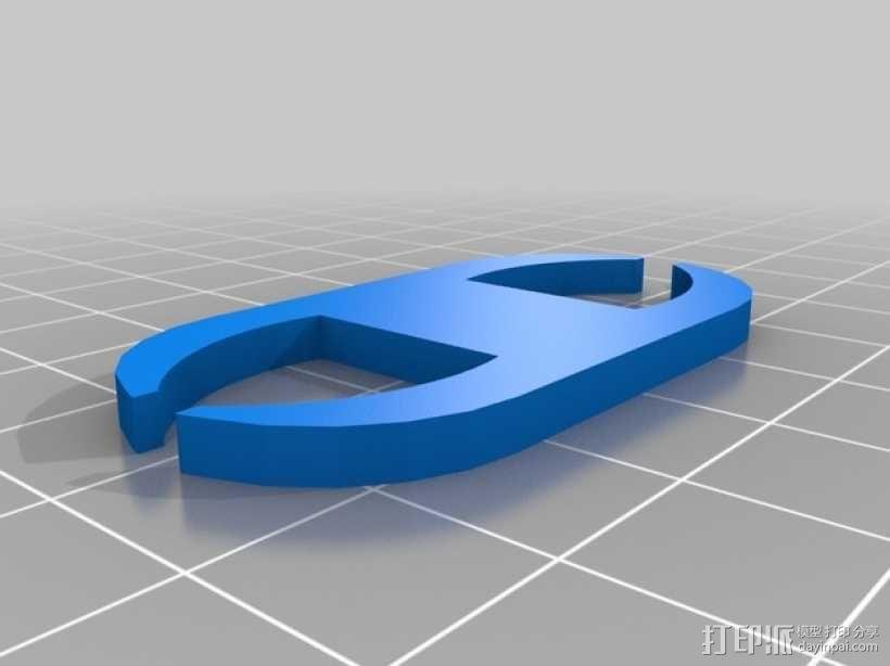 网线线缆固定器 3D模型  图4