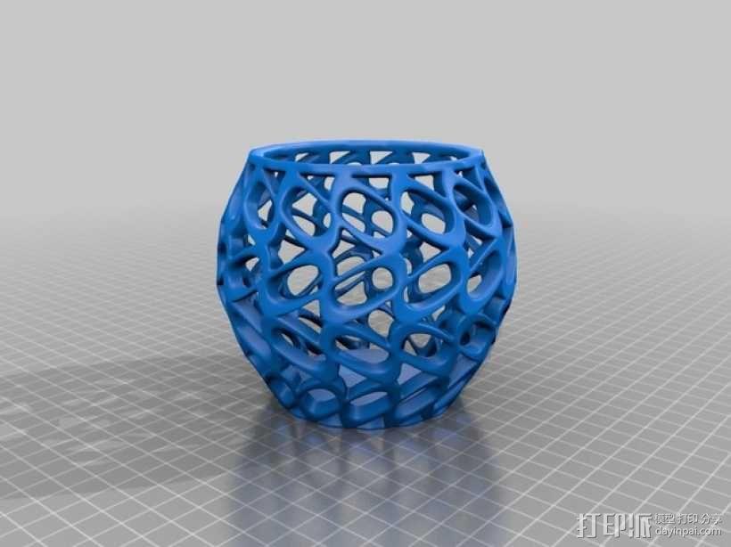环形镂空花瓶 3D模型  图1