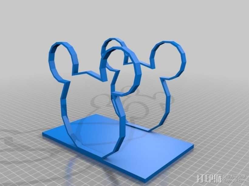 米老鼠餐巾纸架 3D模型  图2