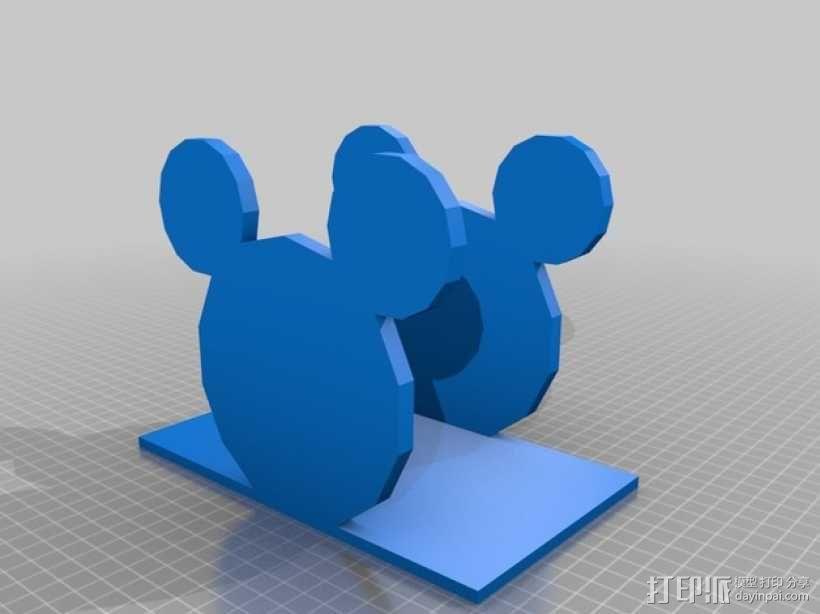 米老鼠餐巾纸架 3D模型  图3