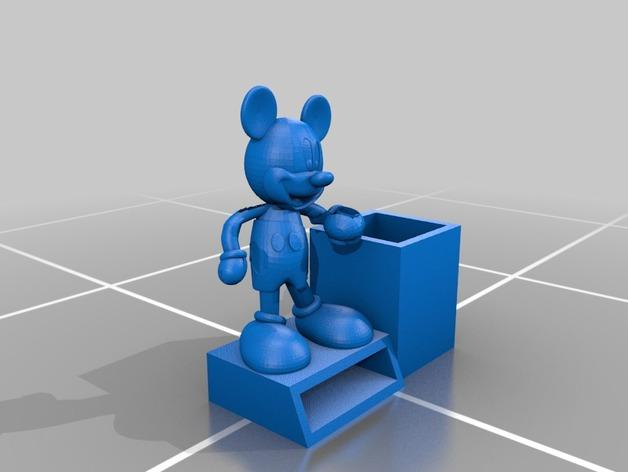 米奇笔筒/桌面规整架 3D模型  图4