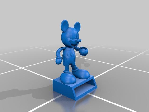 米奇笔筒/桌面规整架 3D模型  图3
