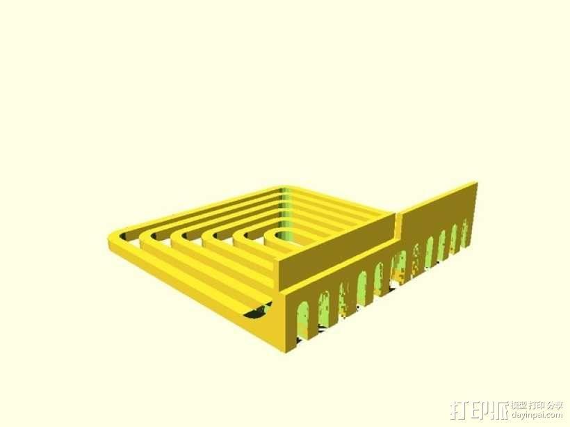简易餐巾纸架 3D模型  图3