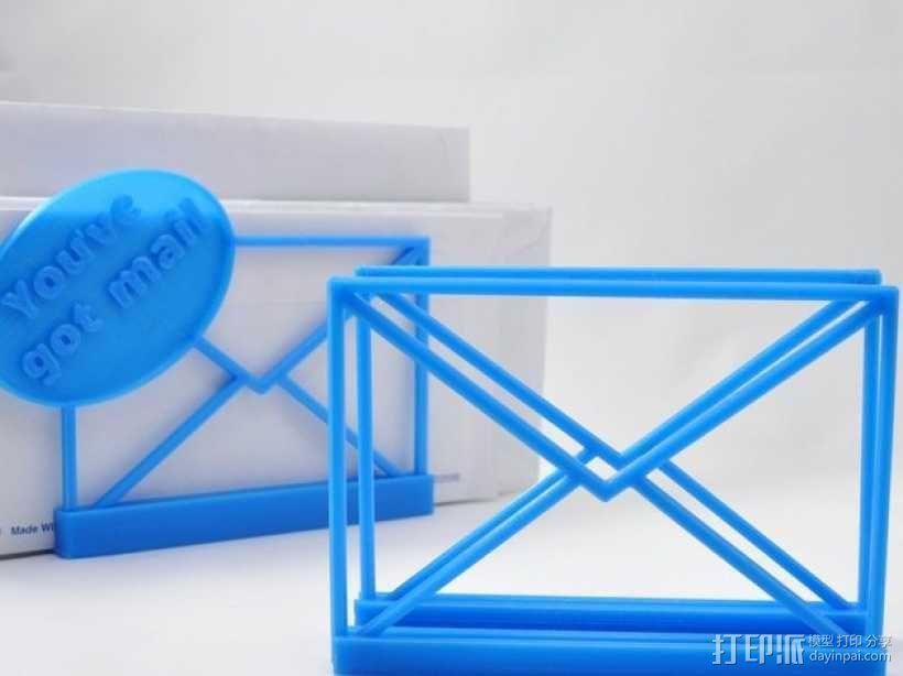 邮件/信封夹 3D模型  图1