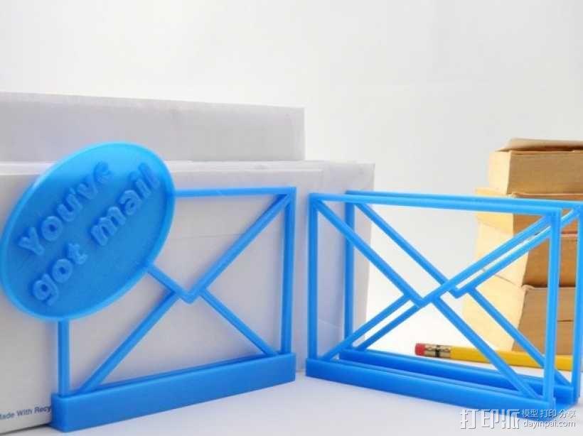 邮件/信封夹 3D模型  图2