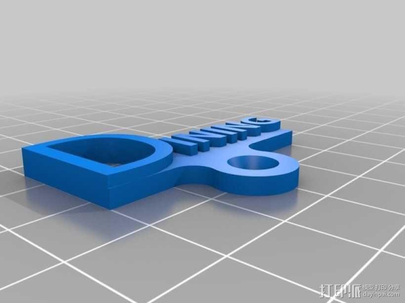 开关板标记 3D模型  图4