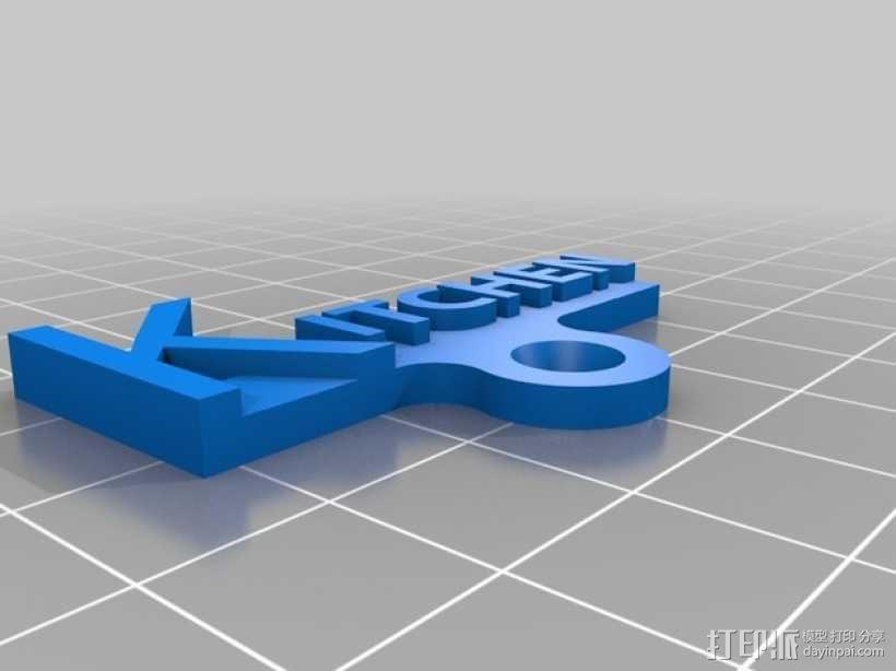 开关板标记 3D模型  图3