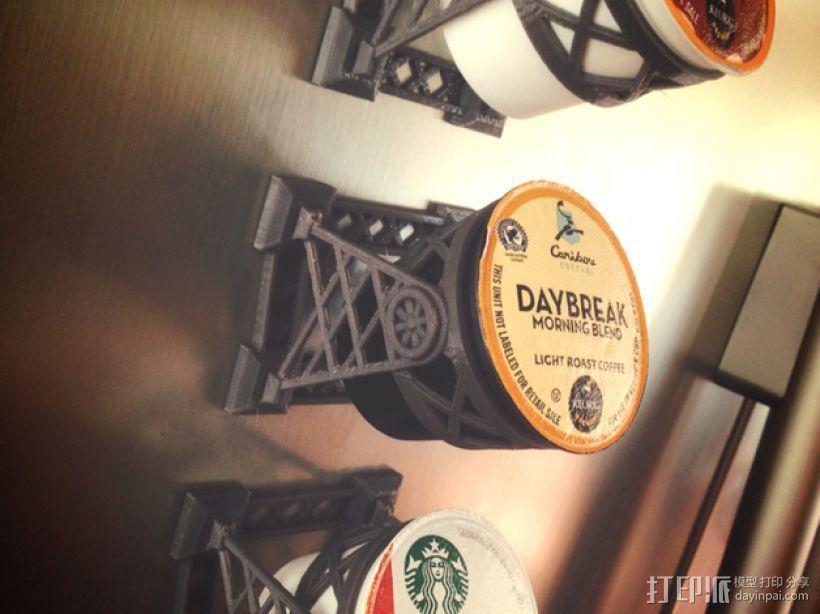 磁力雀巢咖啡胶囊(K-Cup)支架 3D模型  图1