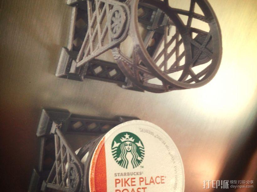 磁力雀巢咖啡胶囊(K-Cup)支架 3D模型  图2