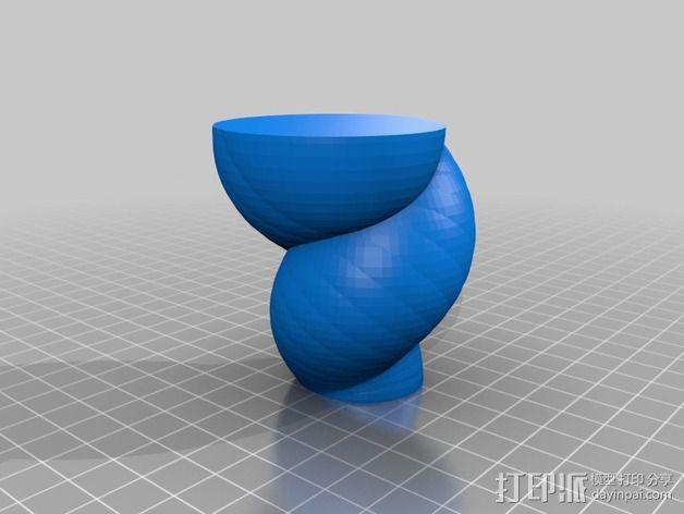 定制化螺旋形花瓶 3D模型  图10