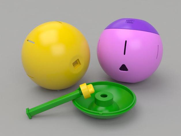 球形宠物饲料盆 3D模型  图3
