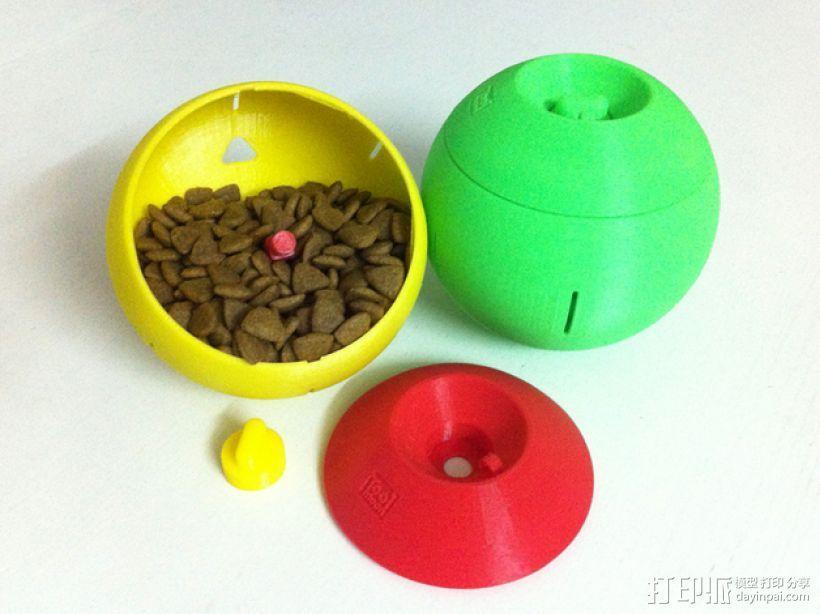 球形宠物饲料盆 3D模型  图1