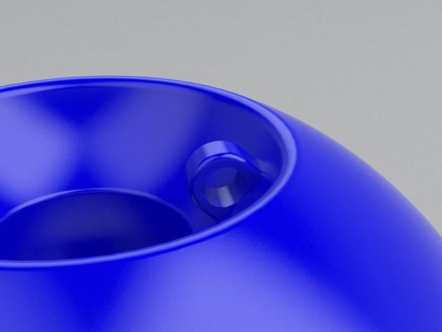 球形宠物饲料盆 3D模型  图4