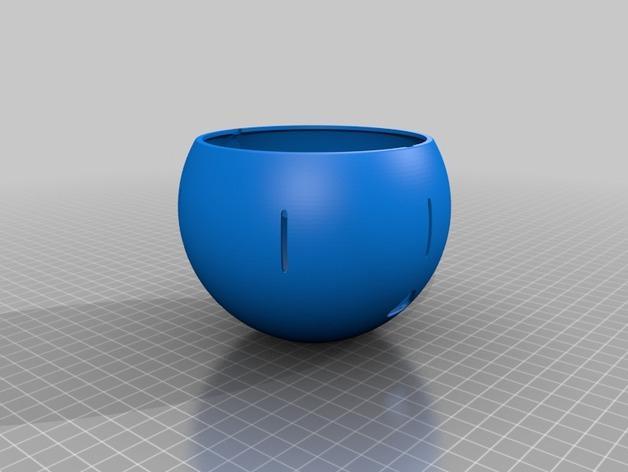 球形宠物饲料盆 3D模型  图5