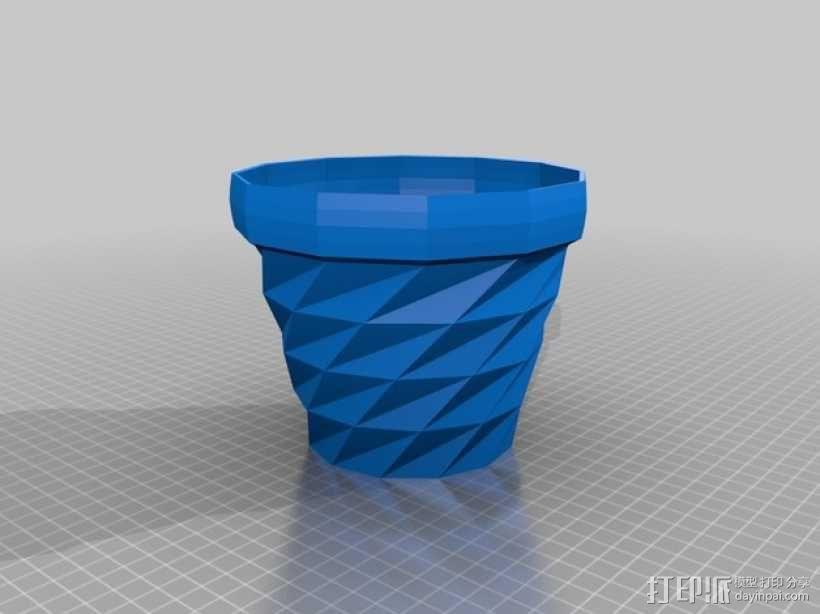 经典圆形花盆 3D模型  图2