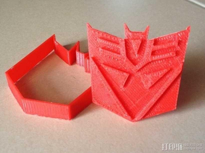 霸天虎饼干模具切割刀 3D模型  图1