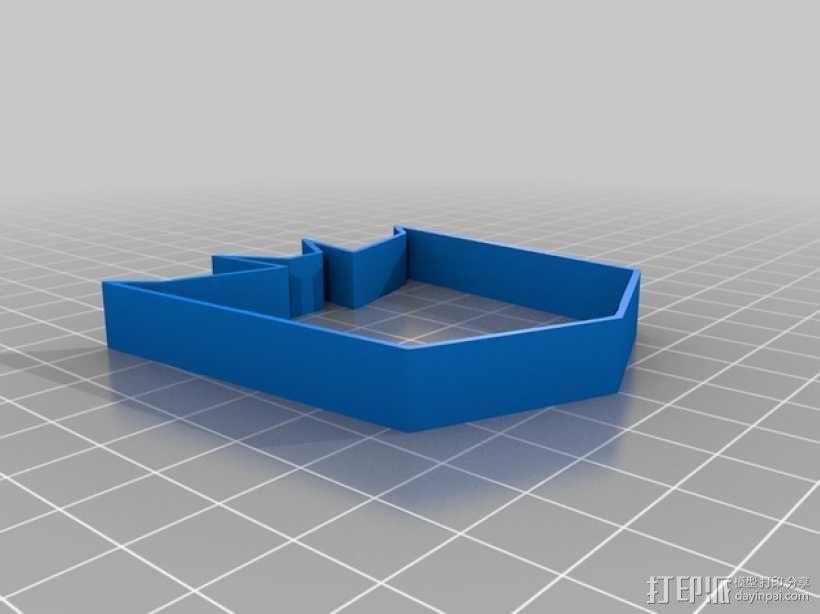 霸天虎饼干模具切割刀 3D模型  图3