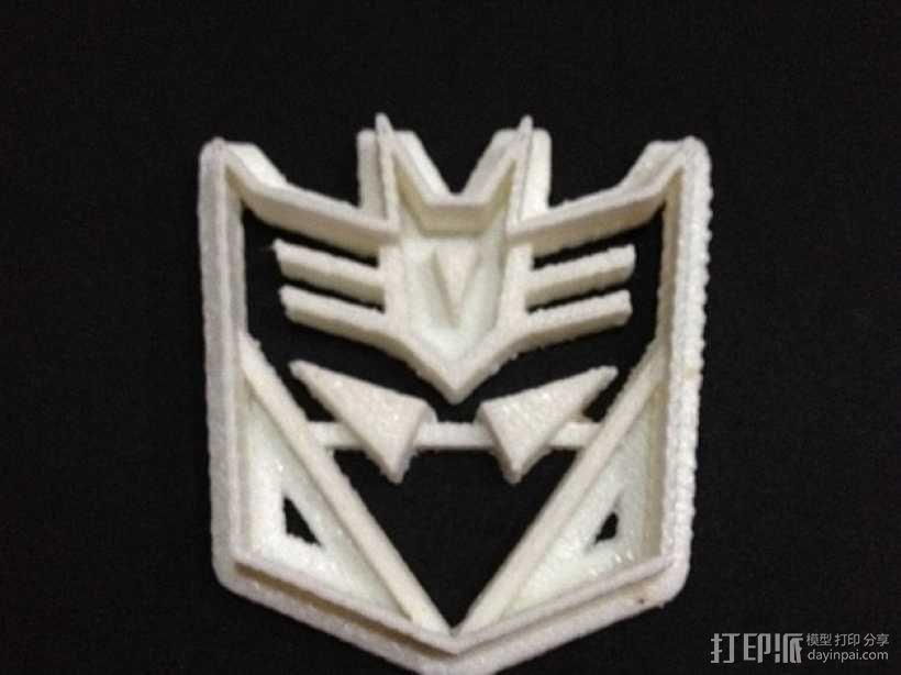 霸天虎饼干模具切割刀 3D模型  图5