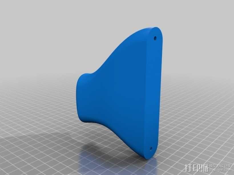 壁挂式吉他固定架 3D模型  图2