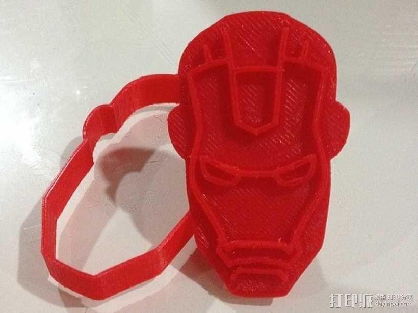 钢铁侠饼干模具切割刀 3D模型  图1