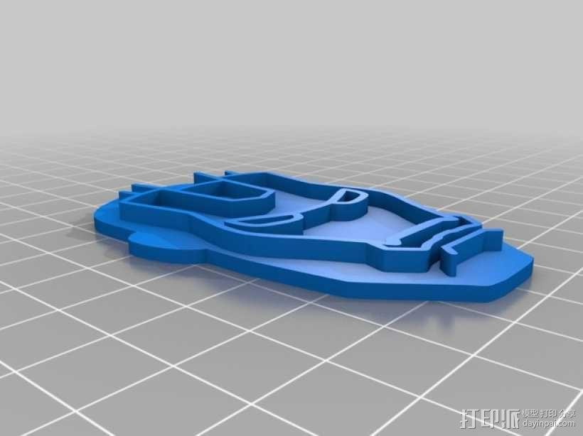钢铁侠饼干模具切割刀 3D模型  图4