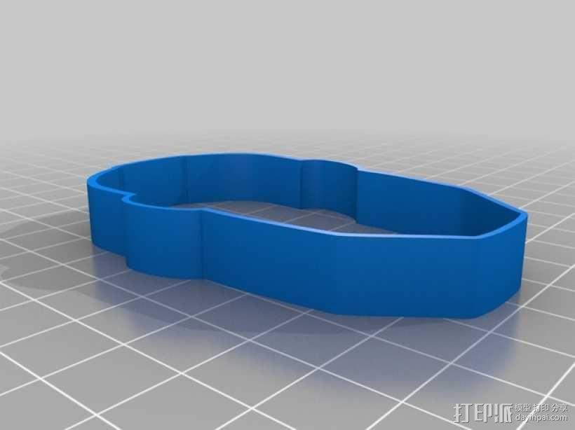 钢铁侠饼干模具切割刀 3D模型  图3