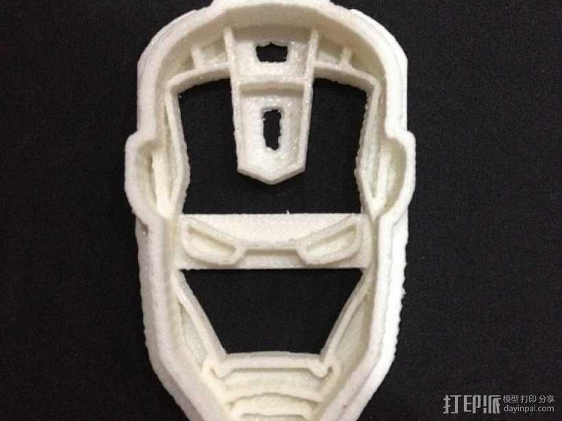 钢铁侠饼干模具切割刀 3D模型  图5