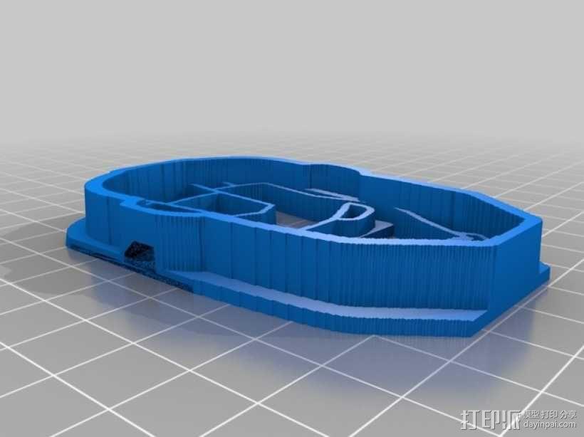 钢铁侠饼干模具切割刀 3D模型  图6