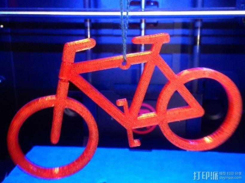 自行车形装饰品 3D模型  图1