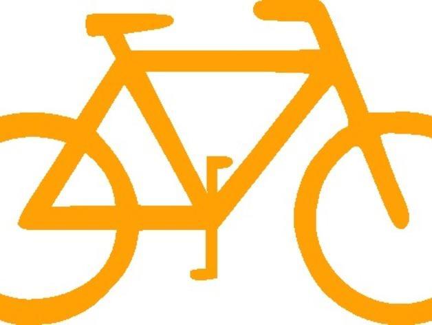 自行车形装饰品 3D模型  图4