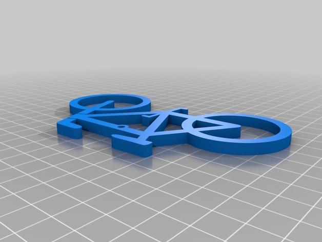 自行车形装饰品 3D模型  图2