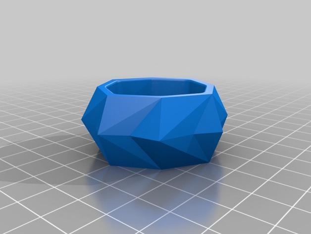 圆形水晶形餐巾环 3D模型  图2