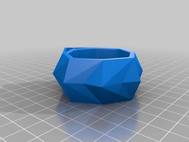 圆形水晶形餐巾环 3D模型  图3