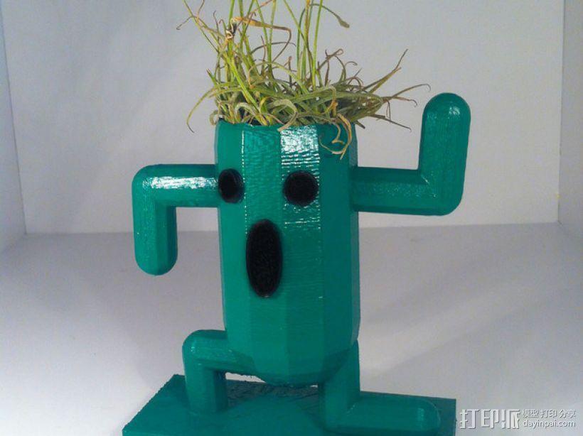 仙人掌形花盆 3D模型  图1