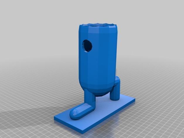 仙人掌形花盆 3D模型  图3