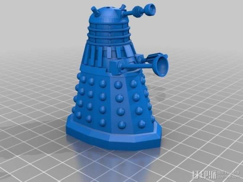 戴立克机器人盐瓶/胡椒瓶 3D模型  图1
